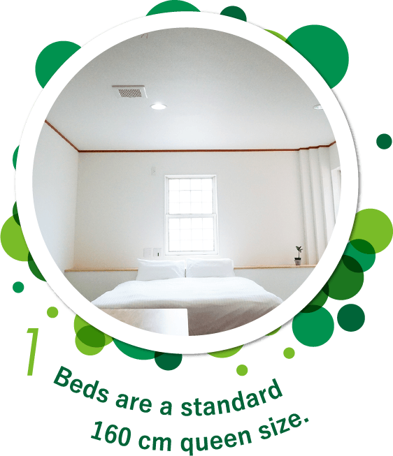 Beds are a standard 160 cm queen size.