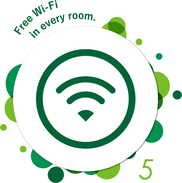 Free Wi-Fi in every room.