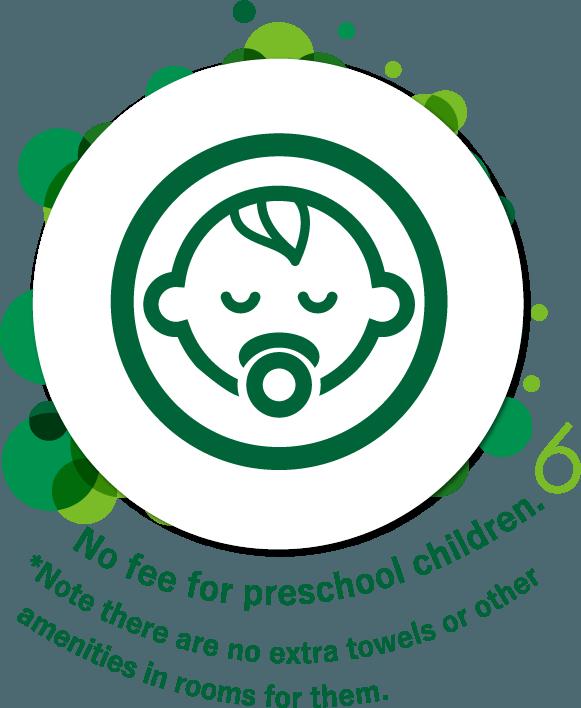 No fee for preschool children.