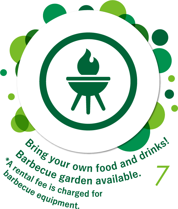 Bring your own food and drinks! Barbecue garden available.